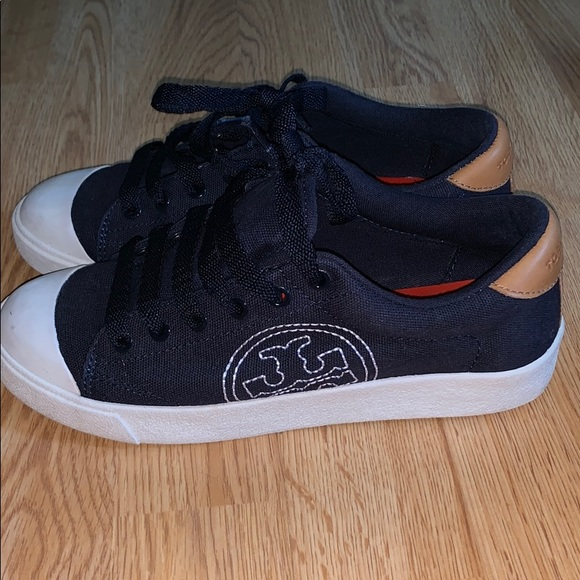 Tory Burch Shoes - Tory Burch sneakers shoes. Navy Blue. Size 6